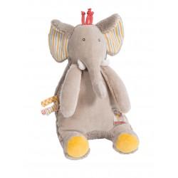 PELUCHE MUSICALE ELEPHANT - LES PAPOUM