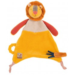DOUDOU ATTACHE TETINE LION LES PAPOUM