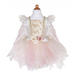 ROBE DE FEE ROSE PALE ET OR - 5/6ANS