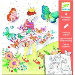 COLORIAGES SURPRISES - LADY BUTTERFLY