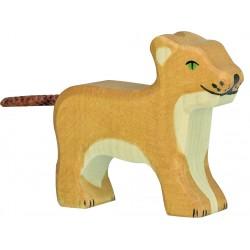 PERSONNAGE BOIS - PETIT LION DEBOUT