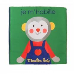 LIVRE TISSU JE M'HABILLE - LES POPIPOP