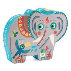 PUZZLE SIHOUETTE HAATHEE ELEPHANT D'ASIE 24PCS